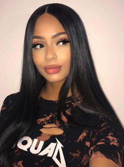 CHRISTMAS SALE-BESTSELLER-18 INCHES 150% DENSITY INDIAN REMY STRAIGHT FULL  LACE HUMAN HAIR WIG - BHC1078 8e40429c6