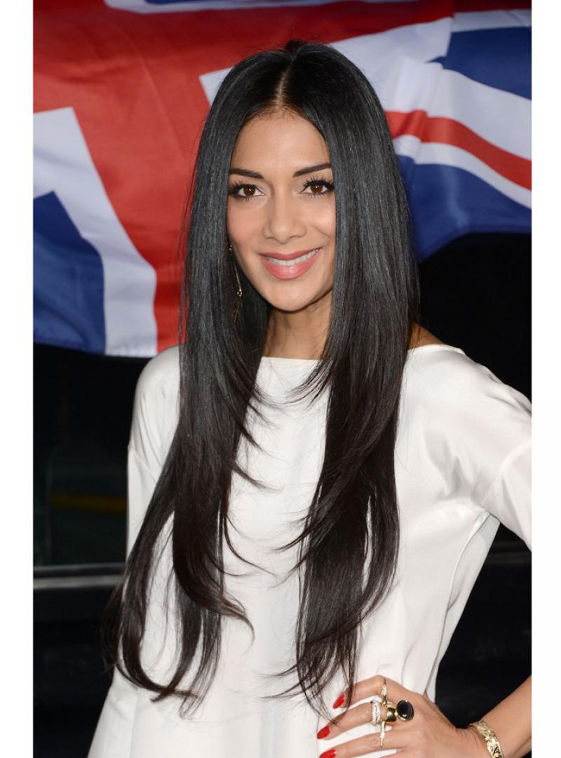 Straightened Long Layered Black Hair 19