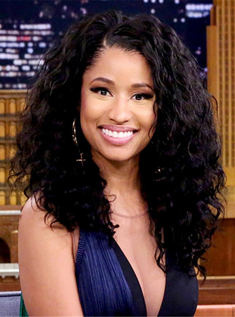 Nicki Minaj Inspired Shoulder Length Curly Full Lace Human